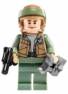 LEGO Star Wars LOOSE Mini Figure Rebel Commando with Blaster Pistol & Macrobinoculars