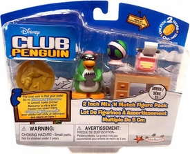 Disney Club Penguin Series 11 Mix 'N Match Mini Figure Pack Aunt Arctic with Writing [Includes Coin with Code!]
