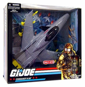 GI Joe Exclusive Deluxe Vehicle Conquest X-30 with Lt. Slip Stream