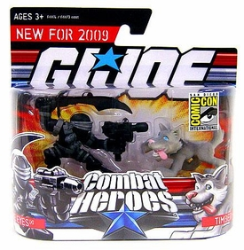 GI Joe Combat Heroes 2008 SDCC San Diego Comic-Con Exclusive Mini Figure 2-Pack Snake Eyes & Timber the Wolf