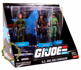 GI Joe Exclusive GI Joe Air Command Action Figure 3-Pack [Captain Ace, Wild Bill & Skyduster]
