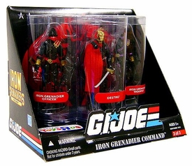GI Joe Exclusive Iron Grenadier Command Action Figure 3-Pack [Destro, Iron Grenadier Officer & Trooper]