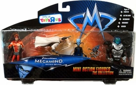 Megamind Movie Exclusive Mini Action Figure Collection 5-Pack Tighten, Metro Man, Megamind, Dreambot & Minion