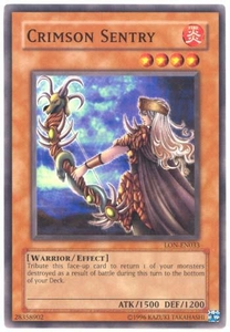 YuGiOh Labyrinth of Nightmare Single Card Common LON-033 Crimson Sentry
