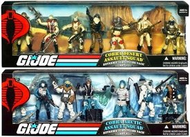 GI Joe Set of Both Exclusive Extreme Weather Troop Builders Action Figure 7-Pack Cobra Assault Squads [Arctic & Desert]