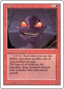 Magic the Gathering Revised Edition Single Card Common Atog