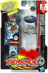 Beyblades Metal Fusion Attack Battle Top #BB37 Storm Aquario