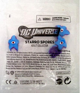 Mattel DC Justice League of America Presents SDCC 2010 San Diego Comic Con Exclusive Bag of 4 Mini Starro Spores