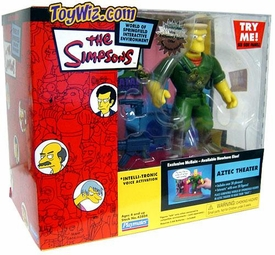 The Simpsons Series 14 Action Figure Playset Aztec Theatre with Rainier Wolfcastle as McBain