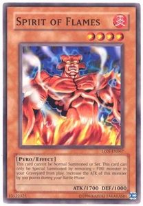 YuGiOh Labyrinth of Nightmare Single Card Common LON-067 Spirit of Flames