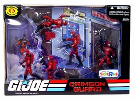 GI Joe Exclusive Action Figure Troop Builders Set Cobra Crimson Guard