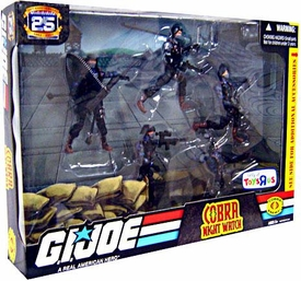 GI Joe Exclusive Troop Builders Action Figure 5-Pack Cobra Special Operations Night Watch
