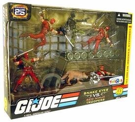 GI Joe Exclusive Troop Builders Action Figure 5-Pack Snake Eyes Vs. Red Ninja Troopers