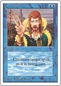 Magic the Gathering Unlimited Edition Single Card Uncommon Counterspell