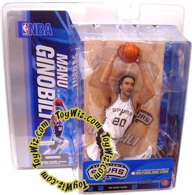 McFarlane Toys NBA Sports Picks Series 10 Action Figure Manu Ginobili (San Antonio Spurs) White Jersey Variant