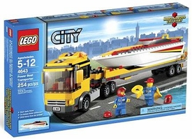 LEGO City Set #4643 Power Boat Transporter