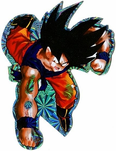 Dragon Ball Z Deluxe Prismatic Sticker Goku [Battle Damaged]
