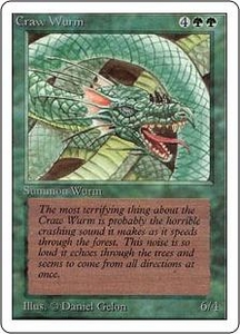 Magic the Gathering Unlimited Edition Single Card Common Craw Wurm