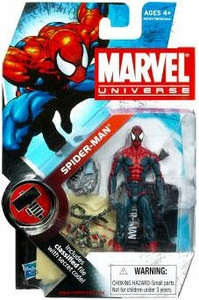 Marvel Universe 3 3/4 Inch Series 6 Action Figure #1 Spider-Man [House of M]