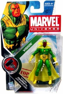 Marvel Universe 3 3/4 Inch Series 6 Action Figure #6 Vision [Full Color Version]