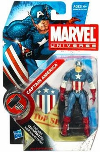 Marvel Universe 3 3/4 Inch Series 7 Action Figure #8 Captain America  [Original Costume & Shield] BLOWOUT SALE!
