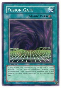 YuGiOh Labyrinth of Nightmare Single Card Common LON-098 Fusion Gate