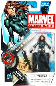 Marvel Universe 3 3/4 Inch Series 7 Action Figure #11 Black Widow