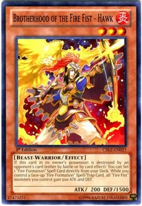 YuGiOh Zexal Cosmo Blazer Single Card Common CBLZ-EN021 Brotherhood of the Fire Fist - Hawk