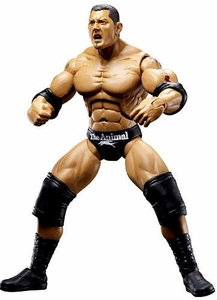 WWE Wrestling DELUXE Aggression Series 10 Action Figure Batista with Barbell Launcher Damaged Package, Mint Contents!