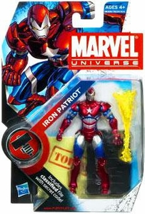 Marvel Universe 3 3/4 Inch Series 9 Action Figure #19 Iron Patriot [Helmet ON]