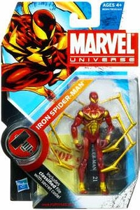 Marvel Universe 3 3/4 Inch Series 9 Action Figure #21 Iron Spider-Man [Solid Colors]