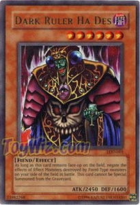 YuGiOh Legacy of Darkness Single Card Ultra Rare LOD-001 Dark Ruler Ha Des