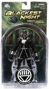 DC Direct Green Lantern Blackest Night Series 8 Action Figure Black Lantern Black Flash