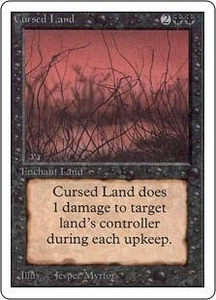 Magic the Gathering Unlimited Edition Single Card Uncommon Cursed Land