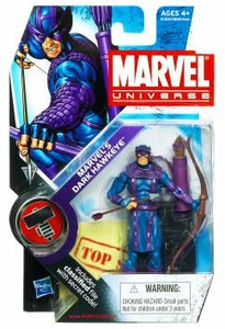 Marvel Universe 3 3/4 Inch Series 11 Action Figure #31 Marvel's Dark Hawkeye [Dark Avengers]