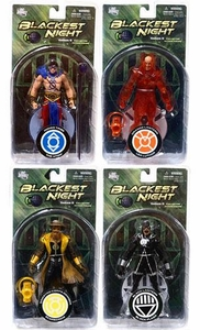 DC Direct Green Lantern Blackest Night Series 8 Set of 4 Action Figures [Black Flash, Lex Luthor, Scarecrow & the Atom]