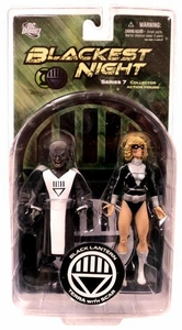 DC Direct Green Lantern Blackest Night Series 7 Action Figure Black Lantern Terra with Scar