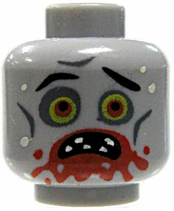 Citizen Brick Custom Printed LOOSE Head Zombie Head [Messy Eater]