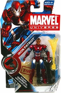 Marvel Universe 3 3/4 Inch Series 9 Action Figure #19 Iron Patriot {Norman Osborn} [Helmet OFF Variant]