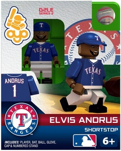 OYO Baseball MLB Generation 2 Building Brick Minifigure Elvis Andrus [Texas Rangers]