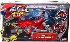 Power Rangers Operation Overdrive Hovertek (Helio) Cycle with Red Ranger Action Figure