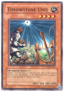 YuGiOh Legacy of Darkness Single Card Common LOD-017 Throwstone Unit
