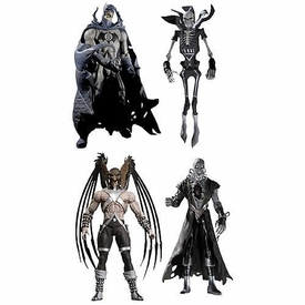 DC Direct Green Lantern Blackest Night Series 5 Set of 4 Action Figures [Batman, Deadman, Nekron & Hawkman Black Lanterns]