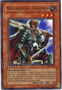 YuGiOh Legacy of Darkness Single Card Ultra Rare LOD-018 Marauding Captain