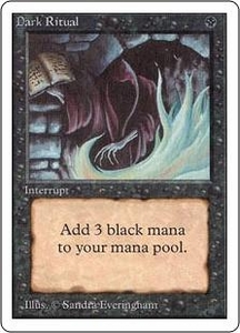 Magic the Gathering Unlimited Edition Single Card Common Dark Ritual Signed by the artist!