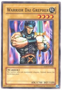 YuGiOh Legacy of Darkness Single Card Common LOD-020 Warrior Dai Grepher