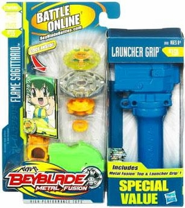Beyblades Metal Fusion Special Value Pack #BB35 Flame Sagittario & Launcher Grip