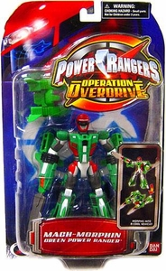 Power Rangers Operation Overdrive Mach Morphin Turbo Drill Action Figure Green Ranger