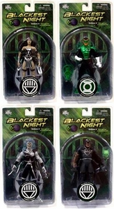 DC Direct Green Lantern Blackest Night Series 4 Set of 4 Action Figures [Black Hand, Black Lantern Firestorm, Kyle Rayner & Wonder Woman]