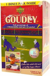 Upper Deck 2007 MLB Baseball Trading Cards Goudey Factory Sealed Box [8 Packs] BLOWOUT SALE!